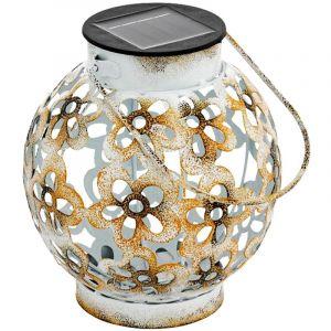 Eglo Plafonnier suspendu LED extérieur solaire blanc jaune décoration de jardin éclairage lampe design fleur 48781