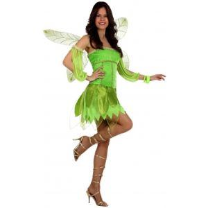 Atosa Déguisement de fée de l'automne verte (taille XL)
