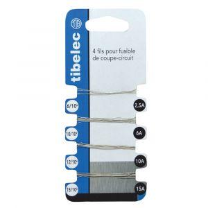 Tibelec Fusible 2.5/6/10/15A fil plombé -