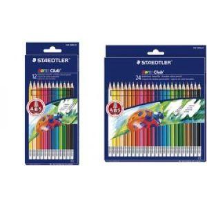 Staedtler 14450NC12 - 12 Crayons de couleur Noris Club gommables ABS assortis