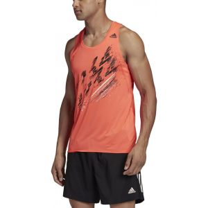 Adidas Speed Maillot de triathlon Homme, solar red S T-shirts course à pied