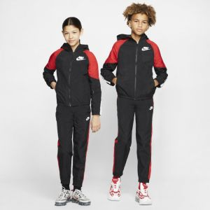 Nike Survêtement NSW Woven - Noir/Rouge/Blanc Enfant - Noir - Taille Boys M: 137-147 cm
