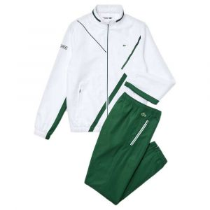Lacoste Sport WH2045 Pantalon de survêtement, Blanc/Vert, XXL Homme