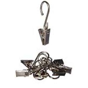 8 anneaux pince en métal