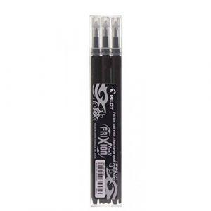 Pilot 3 recharges noires pour stylo Frixion