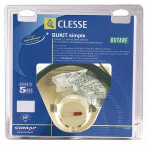 Clesse Détendeur gaz butane simple - kit complet - Bukit S