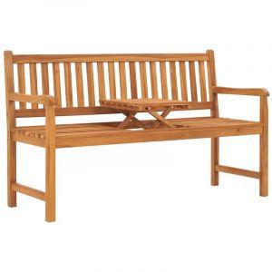 VidaXL Banc de jardin 3 places avec table 150 cm Teck solide