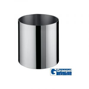 Pot GRAEPEL Fiorere Naxos, Inox Poli à roulettes Metal Taille 5 Intérieur Avec roulettes GRAEPEL HIGH TECH