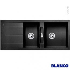 Blanco Evier Blancometra 8 S en Silgranit PuraDur II avec 2 cuves (114 x 48 cm)