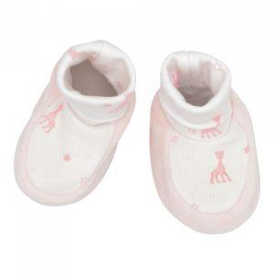 Trois Kilos Sept Sophie la girafe chaussons naissance - Rose - 0-1 mois