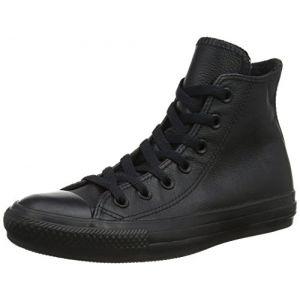 Converse Chuck Taylor Mono Lea Hi - Baskets Hautes - Mixte Adulte - Noir (Black Mono) - 45 EU