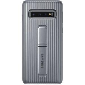 Samsung Coque S10 antichoc Fonction Stand Silver