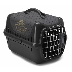 Anka Panier de transport noir pour chat Trendy Runner Luxurious Norme IATA