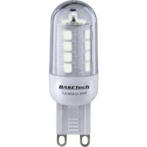 Basetech Ampoule LED G9 TLK-MG9-23-3WW/3pcs à broches 3 W = 25 W blanc chaud (Ø x L) 19.50 mm x 59 mm EEC: A+ 3 pc(s)