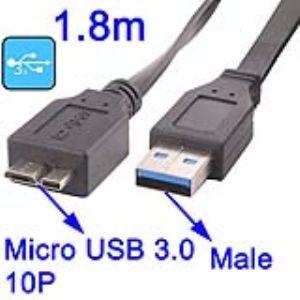 High-Tech Place CUSB3M10PM01 - Câble USB 3.0 AM vers Micro 10P Male 1.8m