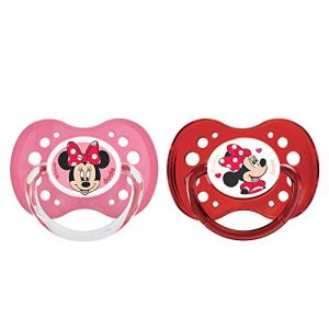 Dodie 2 sucettes anatomiques Minnie silicone 18 mois +