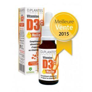 Laboratoire D.Plantes Vitamine D3 - Huile 20ml - Comparer avec Touslesprix.com