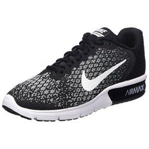 Nike WMNS Air Max Sequent 2, Chaussures de Running Femme, Noir (Noir/Gris Foncé/Gris Loup/Blanc), 38.5 EU