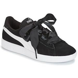 Puma Smash V2 Ribbon Jr, Sneakers Basses Fille, Noir Black White, 38.5 EU