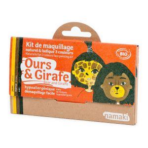 Namaki Kit de maquillage Ours & Girafe