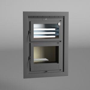 Fm HLI-100 - Four à bois encastrable 11kW avec porte en fonte