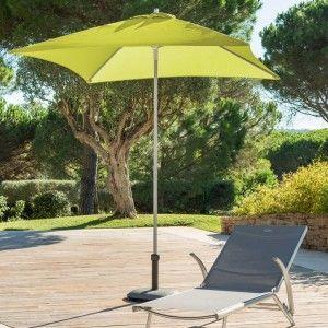 Hesperide Parasol droit Anzio - 2 x 2 m - Pistache