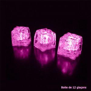 Arum Lighting 12 Glaçons Lumineux à LED rose -