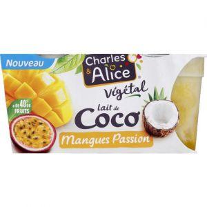 Charles & alice Dessert végétal au lait de coco, mangues passion