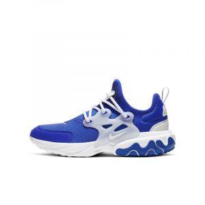 Nike Chaussure React Presto pour Enfant plus âgé - Bleu - Taille 35.5 - Unisex