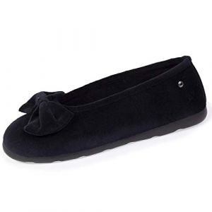 Isotoner Chaussons 97258 Noir - Taille 38,39