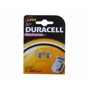 Duracell LR 44 B2 - Blister x2 piles spéciales appareils électroniques équivalent V13GA, A76, KA76, RW82
