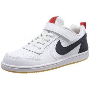 Nike Chaussures de sport Court Borough Low PSV à lacets et scratch Blanc - Taille 32