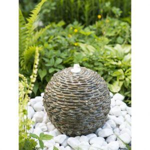 Ubbink Fontaine de bassin boule lumineuse en pierre