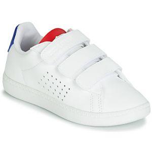 Le Coq Sportif Baskets basses enfant COURTSET PS blanc - Taille 28,32,34