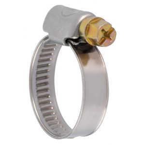 ACE Collier bande non perforée W2 inox /acier zingué - 9 mm - Serrage 12 - 22 mm - Boîte de 50 pièces -