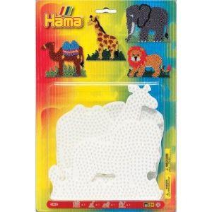 Hama Plaques pour perles à repasser : Animaux sauvages
