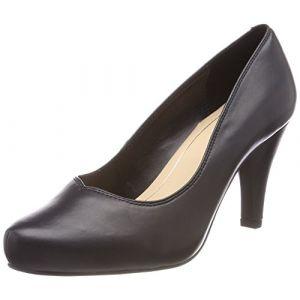 Clarks Dalia Rose, Escarpins Femme, Noir (Black Leather-), 41.5 EU