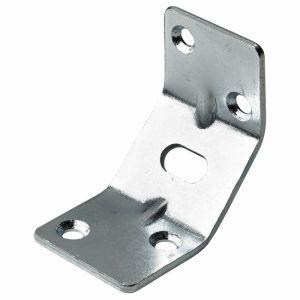 Hettich 1 renfort d'angle pour table acier zingué, l.50 mm