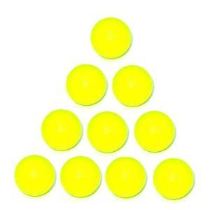 Longoni 10 balles de Baby Foot en plastique jaune