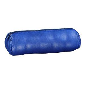 Hamelin Trousse scolaire ronde en cuir bleu marine