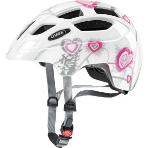 Uvex Casque Finale Junior Blanc Coeur-Rose 2017 - 51-55cm
