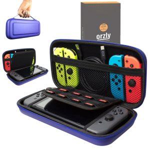 Orzly Etui Rigide en EVA pour Nintendo Switch Housse Rigide de Rangement Zippée