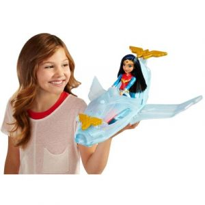 Mattel Poupée DC Super Hero Girls Wonder Woman et son jet invisible