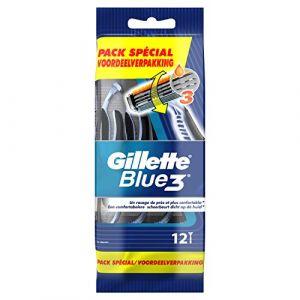 Gillette Blue3 Rasoirs Jetables Pour Homme - Lot De 12