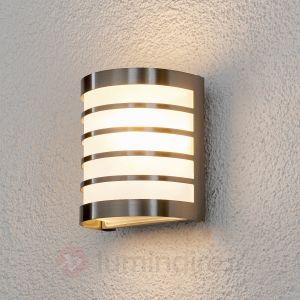 Lampenwelt Applique d'extérieur Calin en inox
