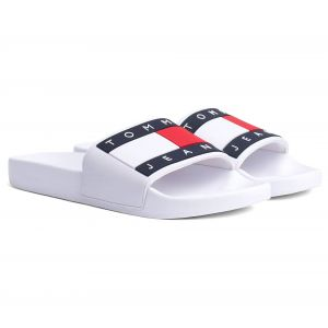 Tommy Hilfiger Tommy Jeans Flag Pool tong Hommes blanc T. 45,0