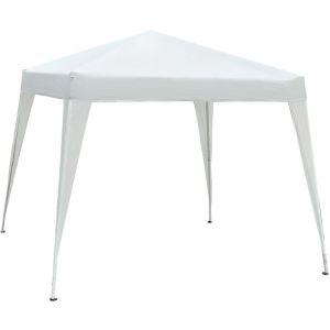 Outsunny Tonnelle barnum de jardin pop-up pliant 3L x 3l x 2,4H m acier polyester imperméabilisé anti UV avec sac de transport blanc