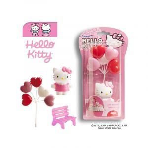 Dekora AEC - GU24158 - Kit Décoration pour Patisserie en Pvc Hello Kitty - 9 cm