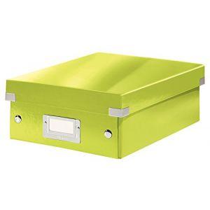 Leitz 6057-00-64 - Boîte de rangement Click & Store, petit format avec compartiments, en PP, coloris vert métallique