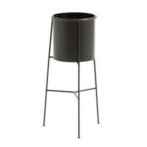 Image de Cac pot sur pied INAYA métal et laiton Noir/Noir Taille Taille Unique